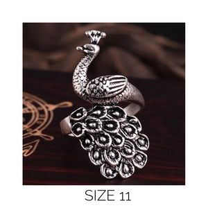 Jewelry - New Size 11 Peacock Ring Jewelry Stainless Steel